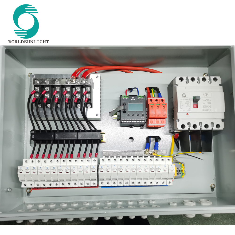 WSDB-PV12/1D 12 input 1 out 1000V DC SOLAR PV COMBINER BOX with anti-reverse diode