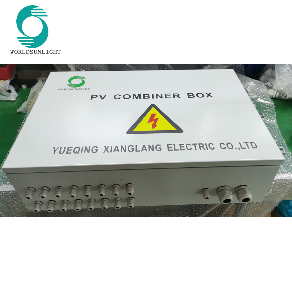 WSDB-PV8/1D 8 input 1 out 1000V DC Photovoltaic SOLAR PV COMBINER BOX with anti-reverse diode