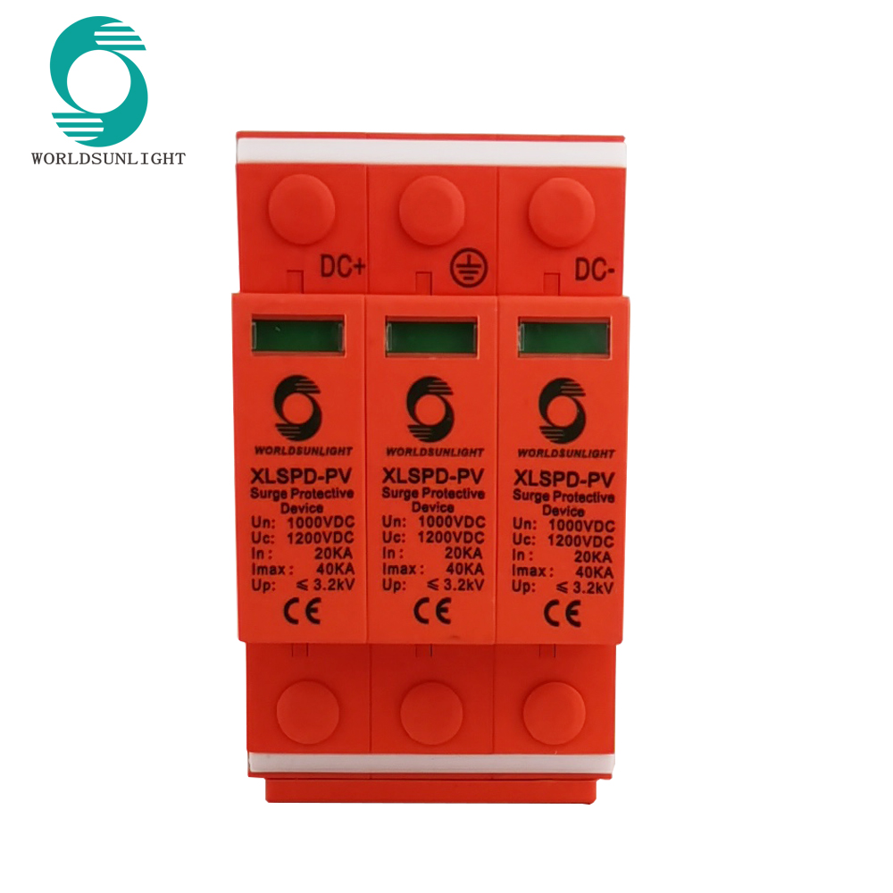 CE TUV XLSPD-PV 3P DC 1000V 20-40KA surge arrester Surge protector device SPD for solar system