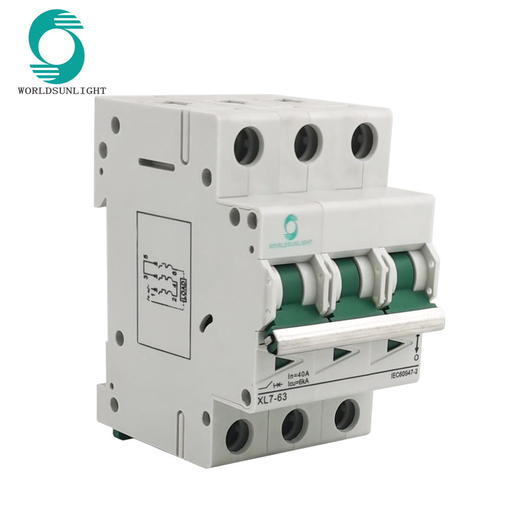 XL7-63 3P 750V DC MCB DC mini circuit breaker Miniature Circuit Breaker for solar system