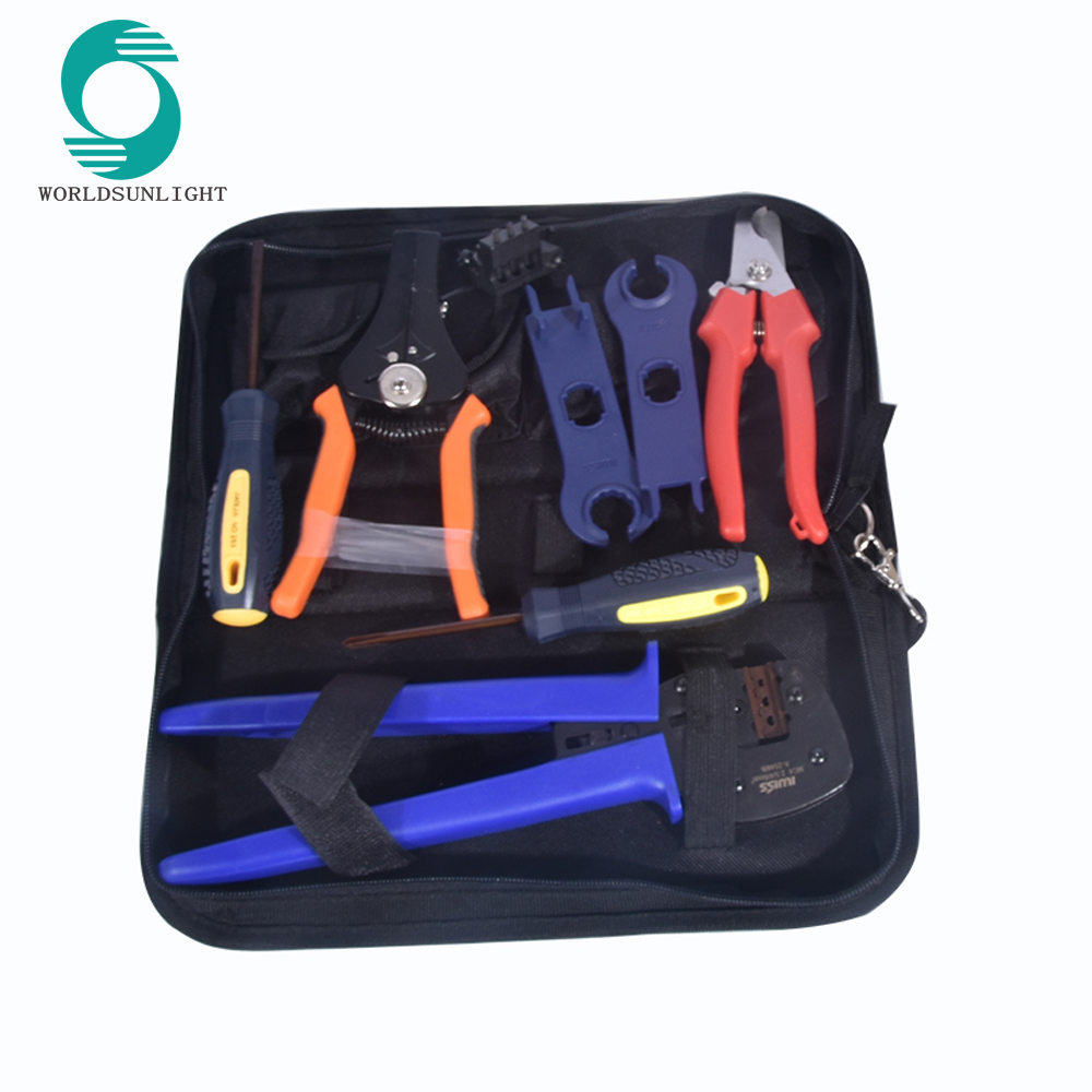 photovoltaic connector crimping tool solar energy terminal crimper wrench wire stripper pliers crimp range 2.5/4/6mm solar tool kit